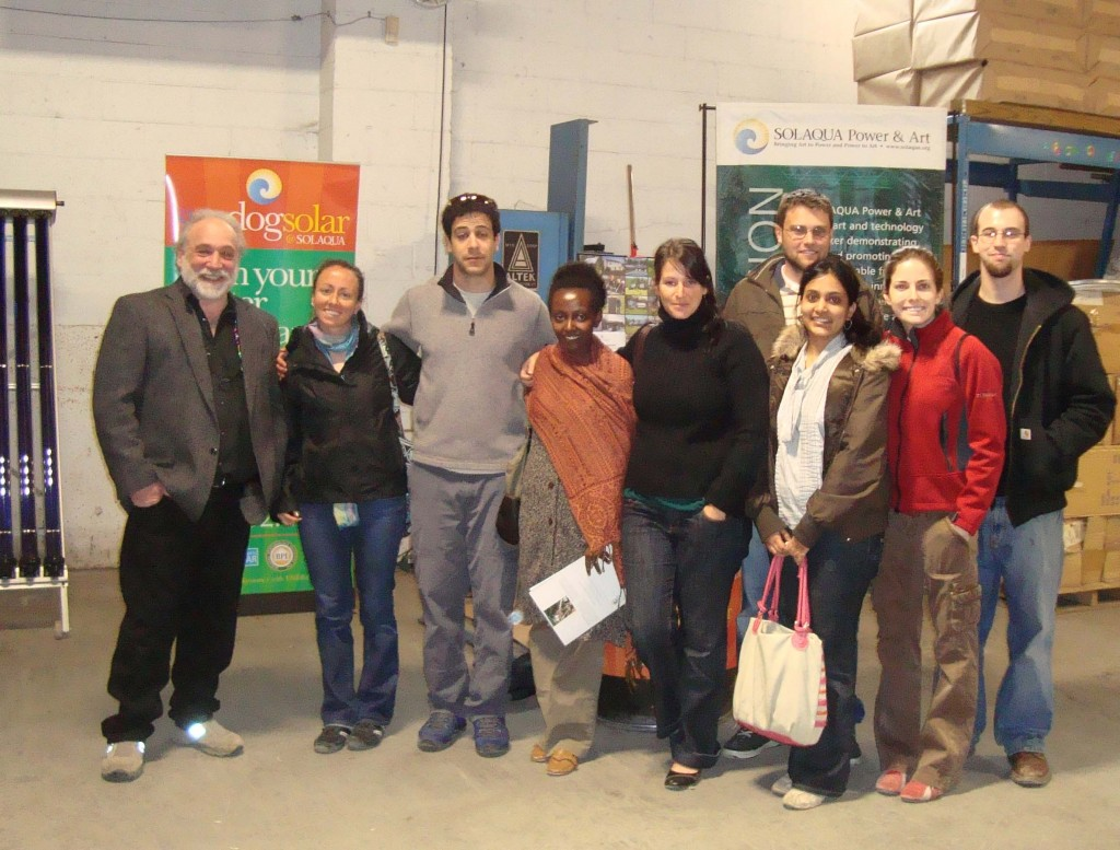 Jody with students from Bard College